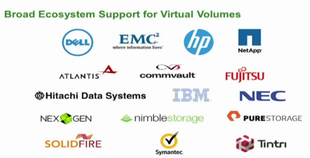 5. vVol ecosystem support