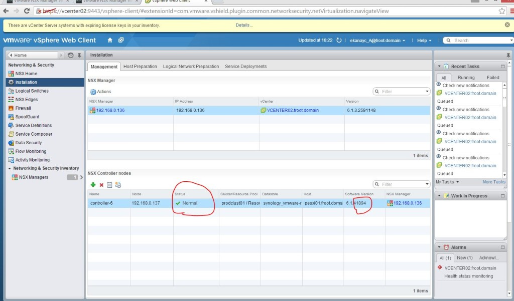 VMware NSX Upgrade from 6 1 2 to 6 1 3 – Chan's Blog