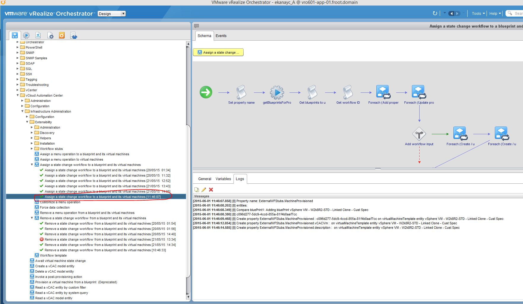 Vmware vrealize automation part 10 iaas extensibility using vro now click submit and ensure its run successfully within the vro client malvernweather Gallery