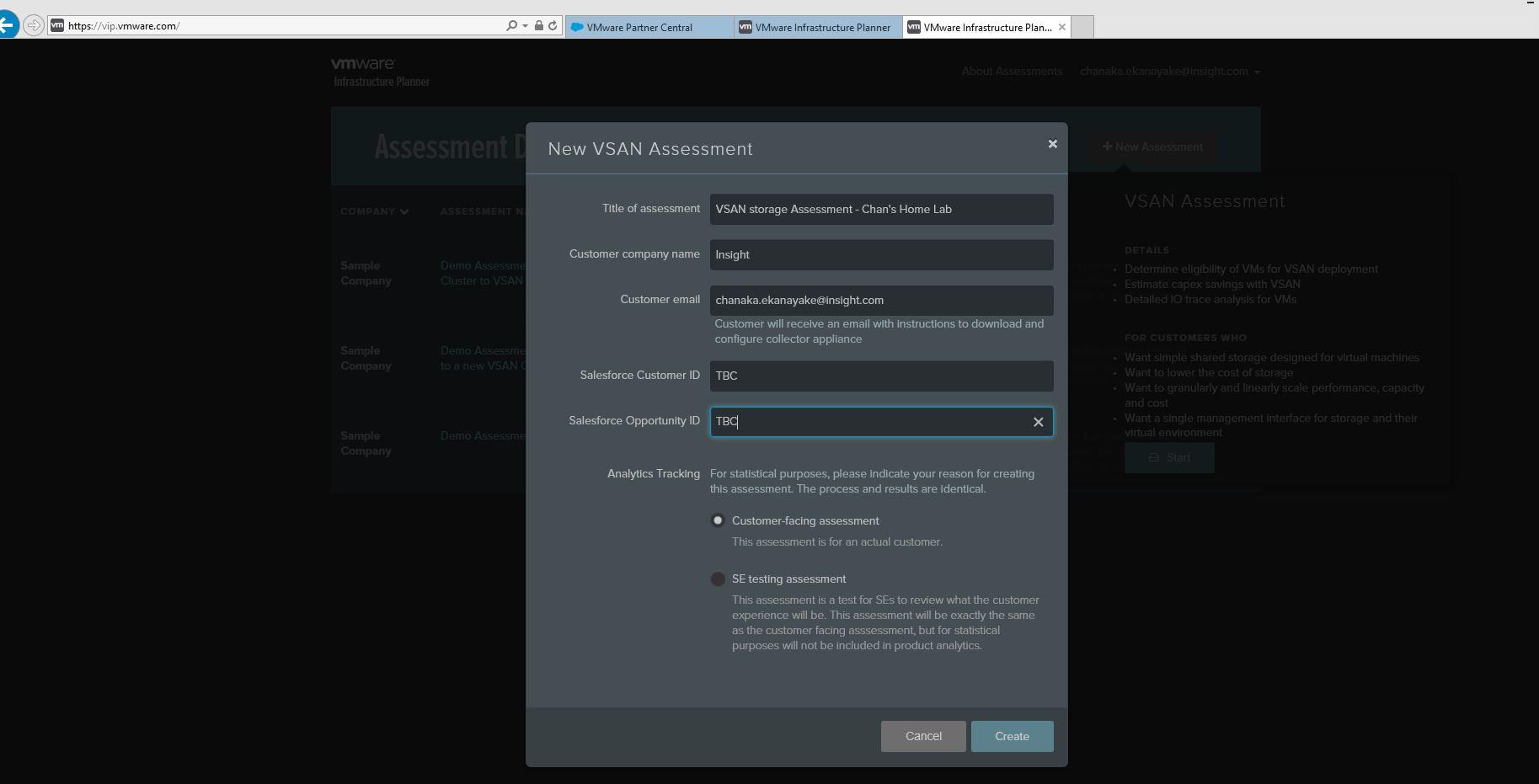 VMware VSAN Assessment Tool – VMware Infrastructure Planner