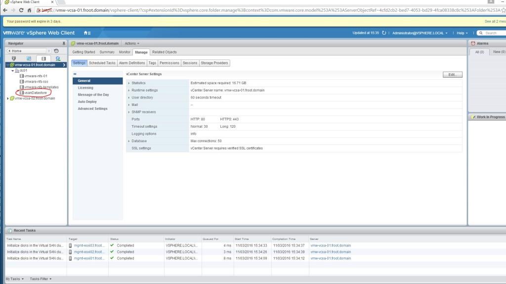 11 - VSAN datastore active